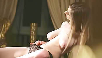 Sensual brunette shows her masturbation