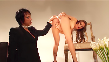 Domina orders her to flick it harder