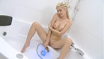 Sweet honey exposing her boobs during shower